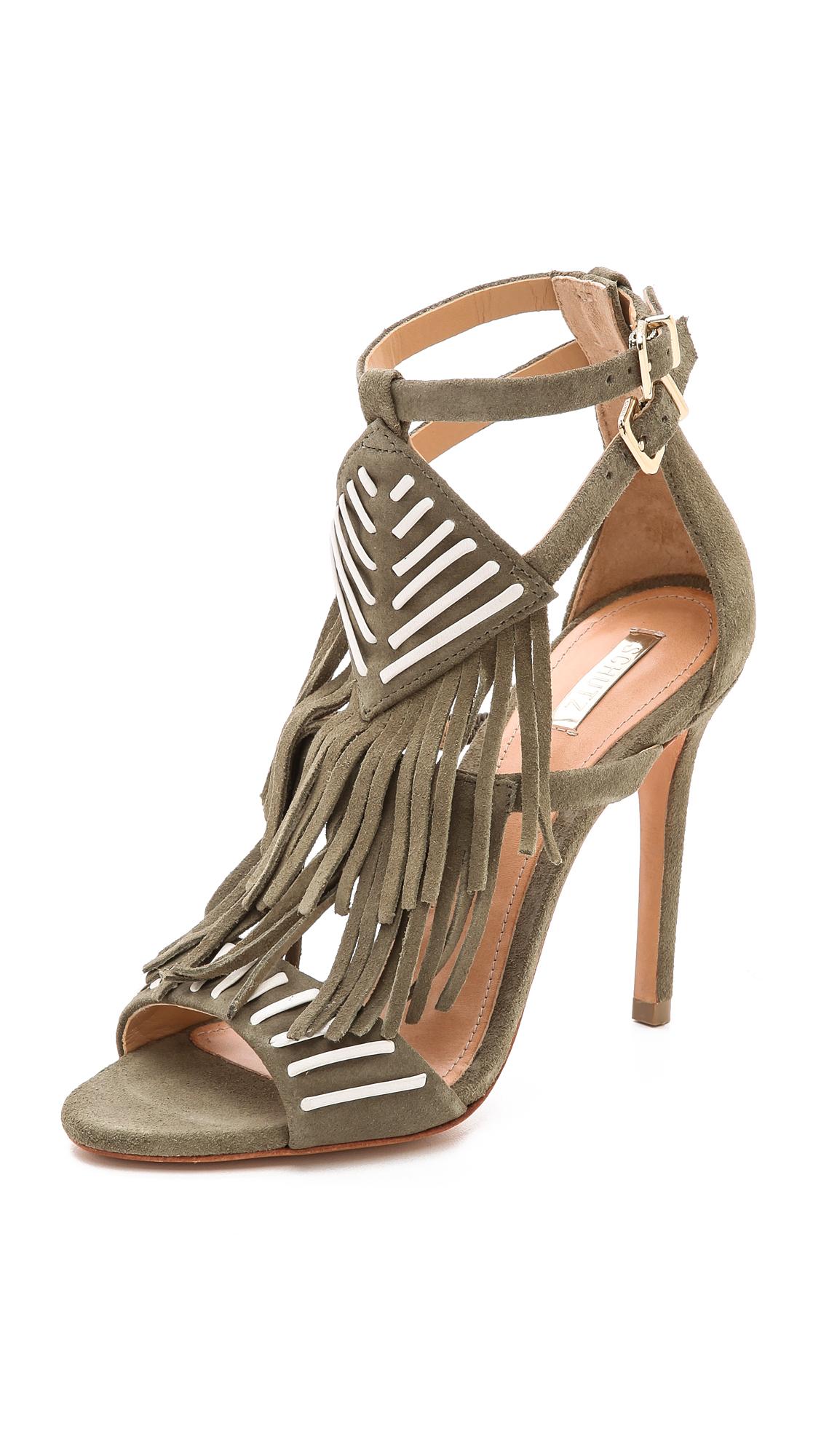 Schutz Fringe Sandals