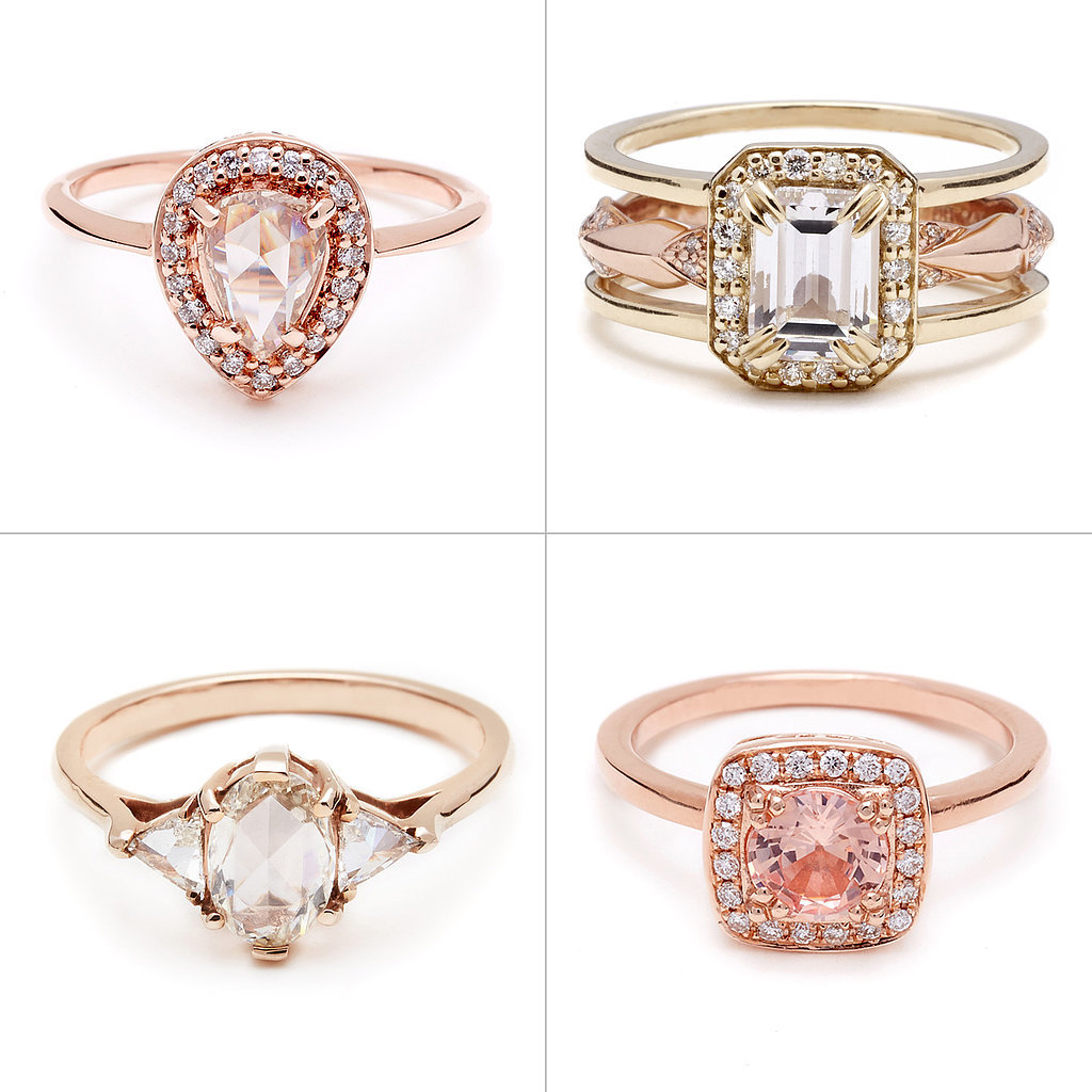 anna sheffield rose gold engagement rings popsugar fashion