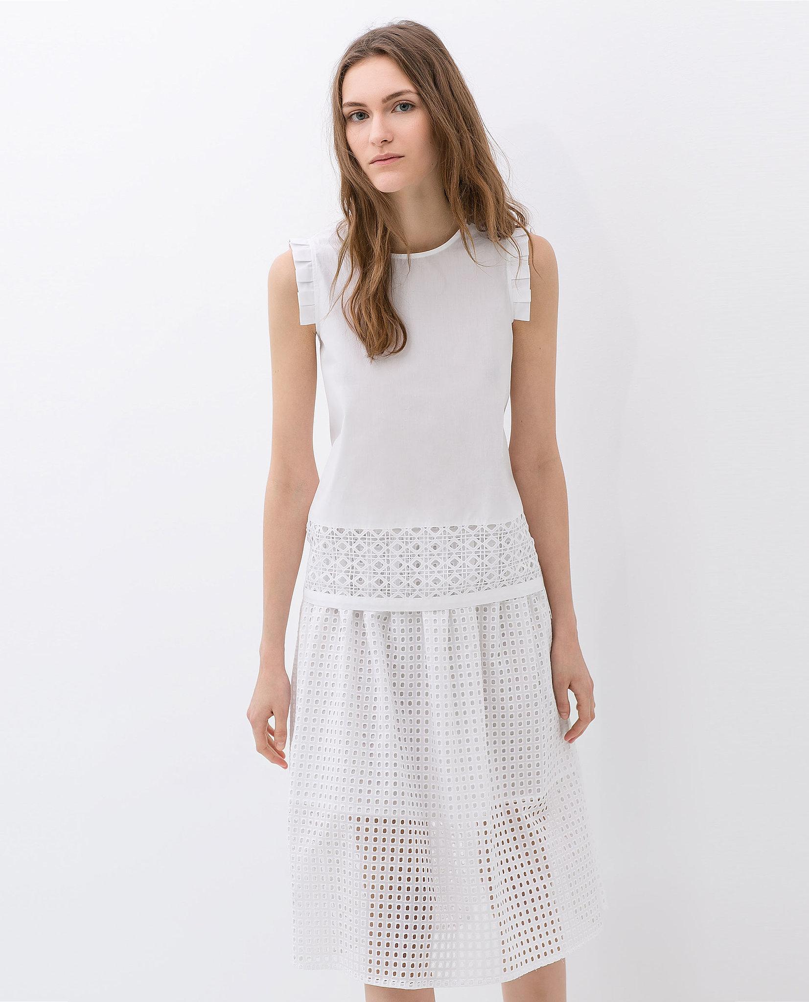 Zara Cut Work Skirt ($80)
