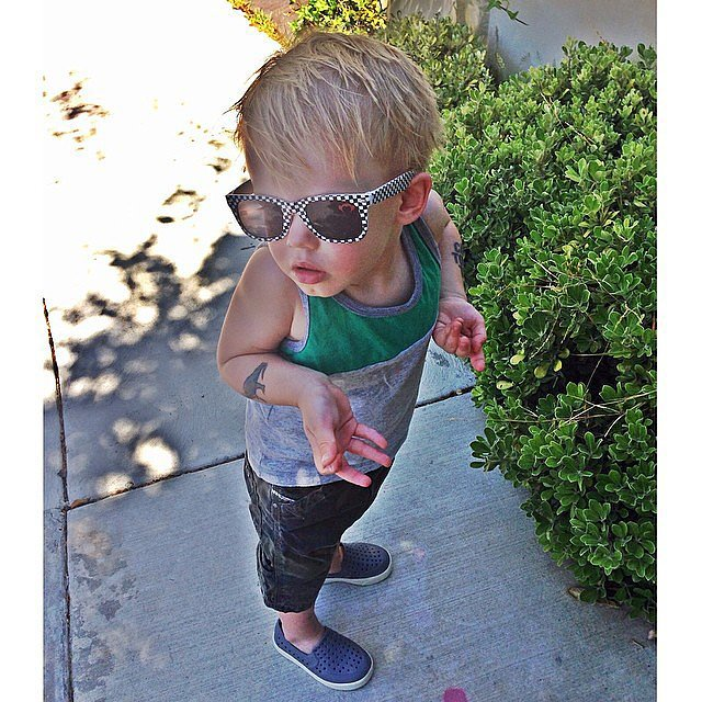 Luca Comrie wasn't quite sure where the snails went when his mom, Hilary Duff, asked. Source: Instagram user hilaryduff