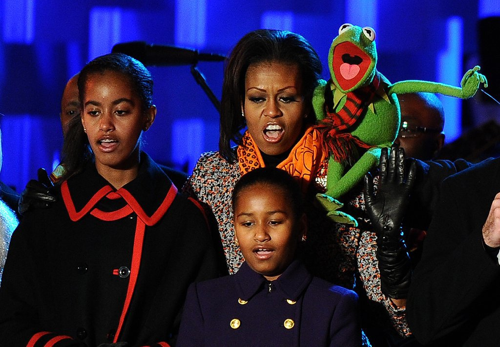 Kermit the Frog got in on the fun at the 2011 National Christmas Tree Lighting.
