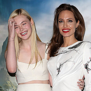 Angelina Jolie And Elle Fanning London Maleficent Photocall