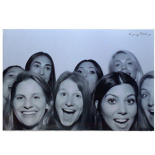 Kourtney's smile was front and center in this group shot.  Source: Instagram user kimkardashian