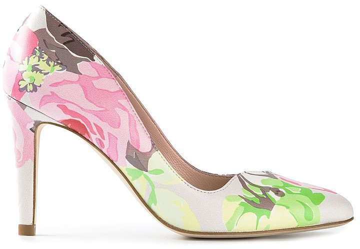 Carven Floral Print Pumps