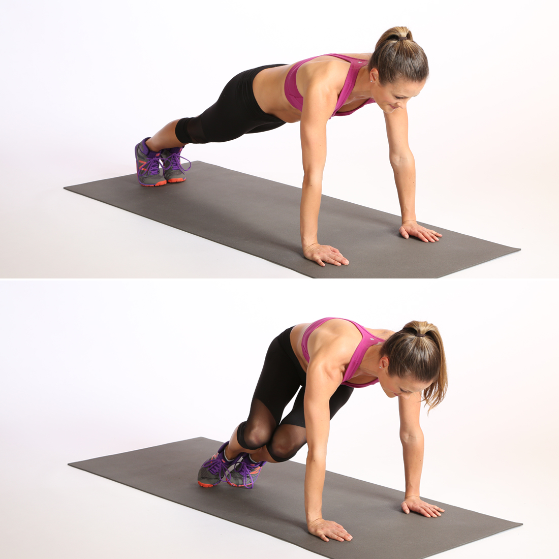 Circuit One: Plank With Bunny Hop