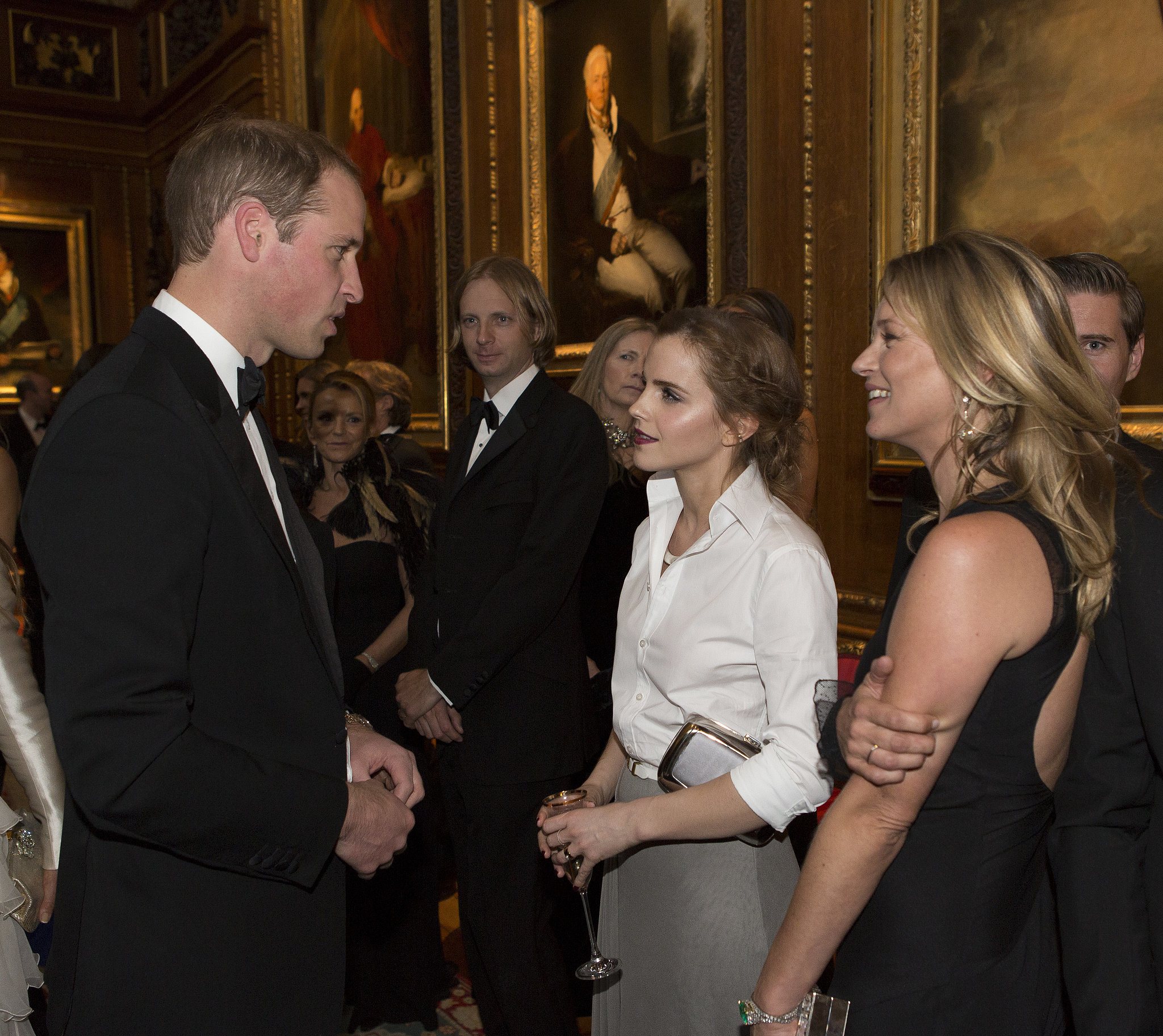 Prince William Chatted With Emma Watson And Kate Moss At