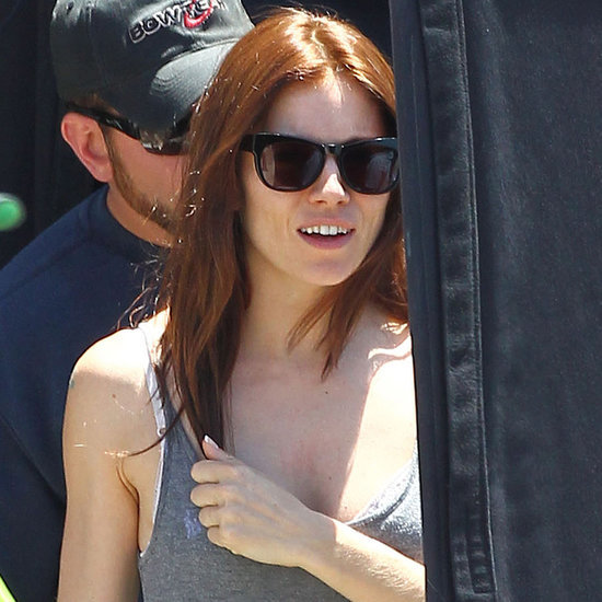 Sienna Miller and Bradley Cooper Filming American Sniper