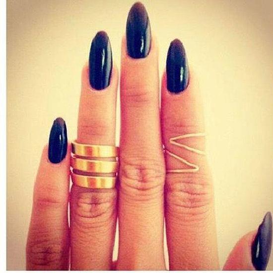 The Prettiest Dark Nail Polish on Pinterest Winter Manicures