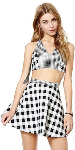 Nasty Gal Check Two-Piece Dress