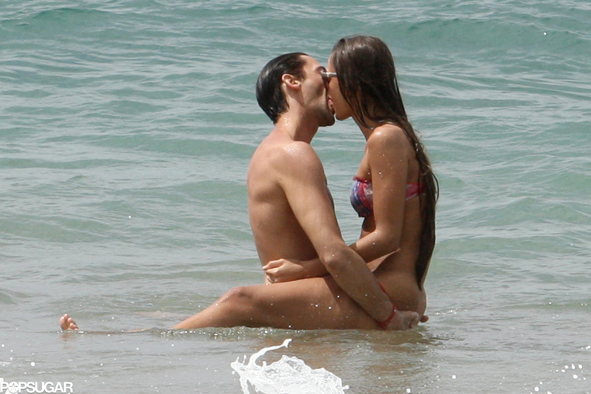 Things got hot and heavy for Adrien Brody and his girlfriend during a March 2
