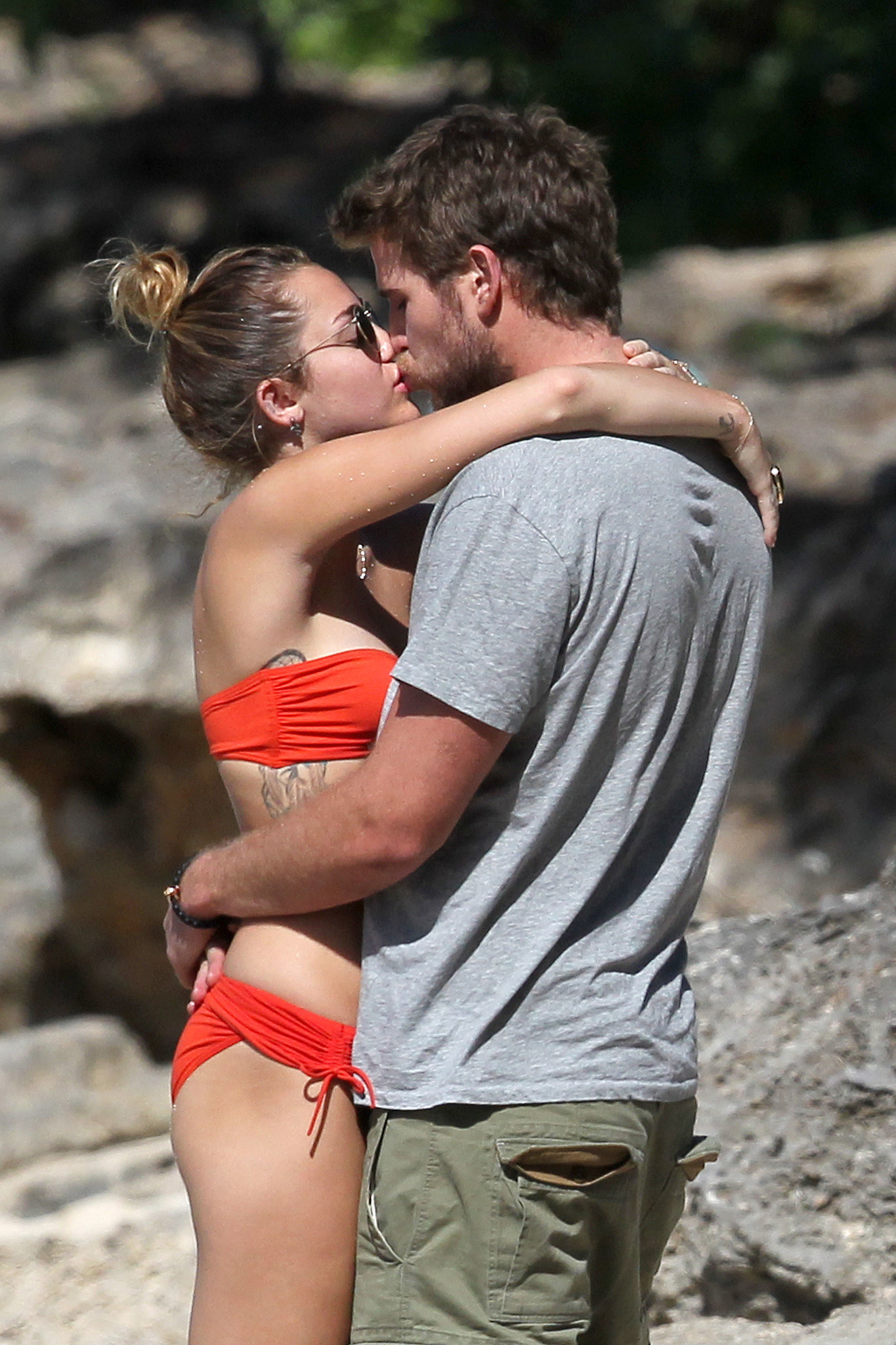 Then-couple Miley Cyrus and