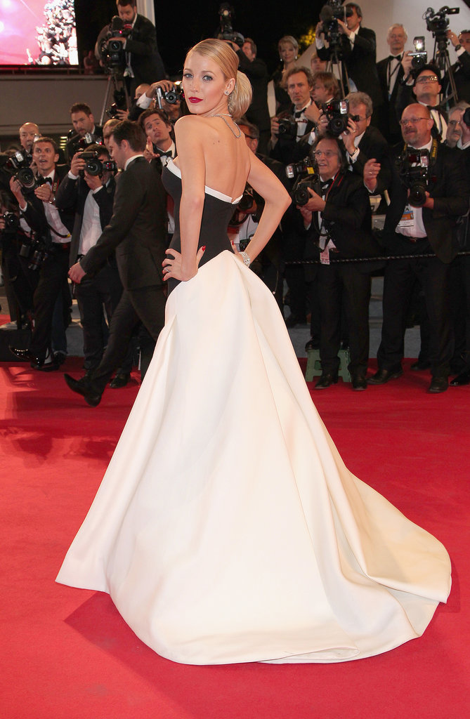 Blake Lively was gorgeous in black and white at the The Captive premiere.