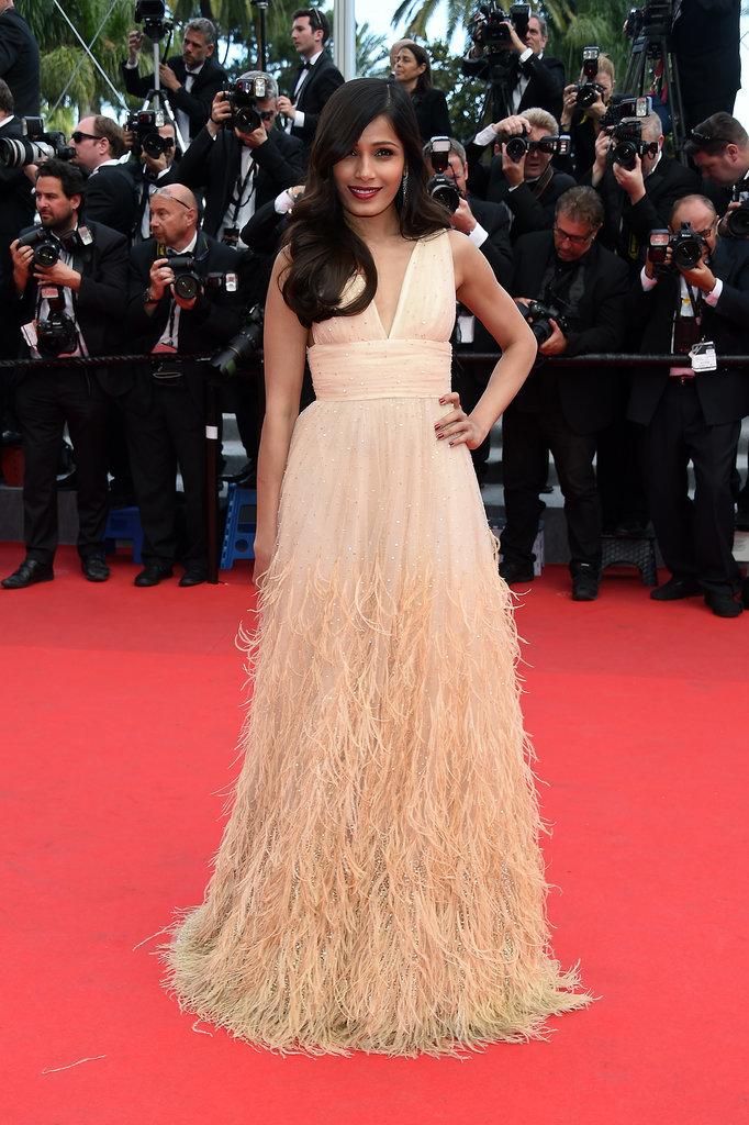 Freida Pinto at the Saint Laurent Premiere