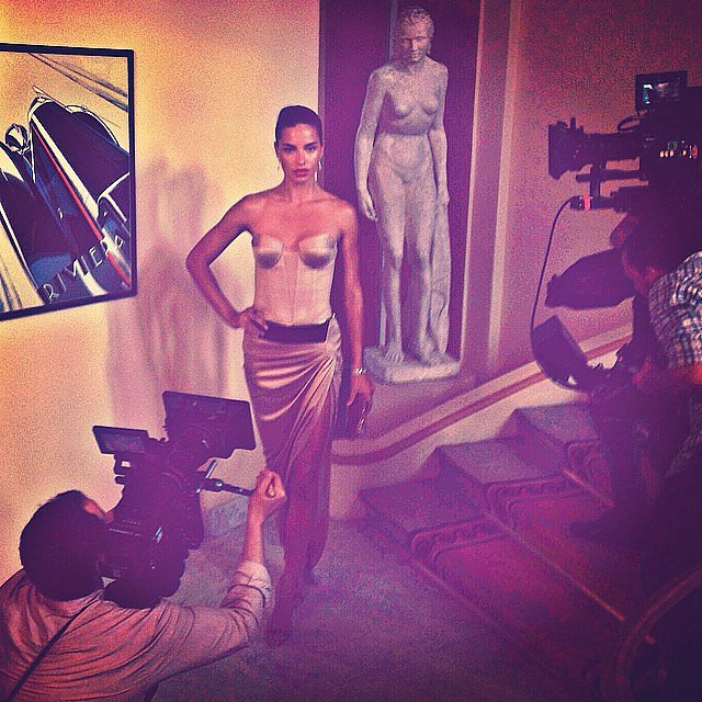 Adriana Lima got in model mode at a bash. Source: Instagram user adrianalima