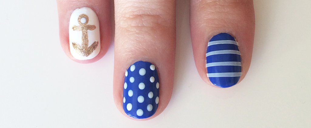 This Is the Chicest, Easiest Nautical Nail Art You'll Find