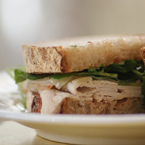Recipe For Turkey Sandwich With Manchego Cheese, Watercress, and Pear Butter