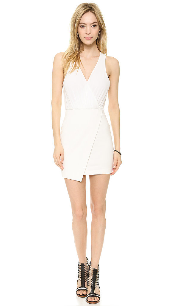 Bec & Bridge White Drape Dress