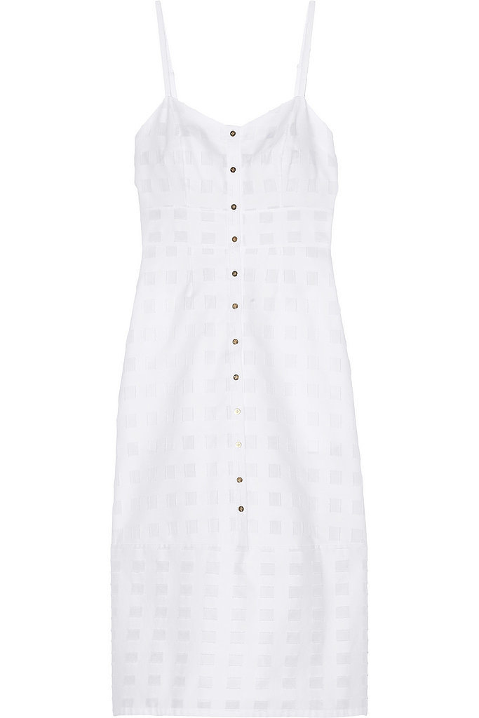 Suno White Cotton Dress