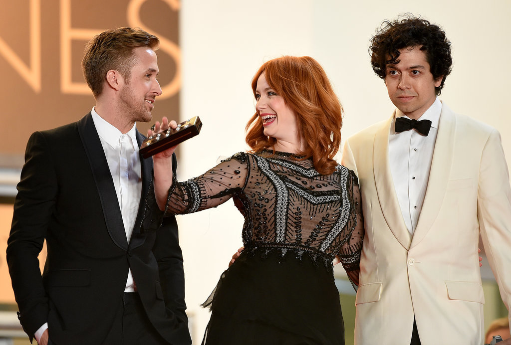 Ryan Gosling shared a cute moment with Christina Hendricks when the costars walked the stairs with her husband, Geoffrey Arend, at the Lost River premiere.