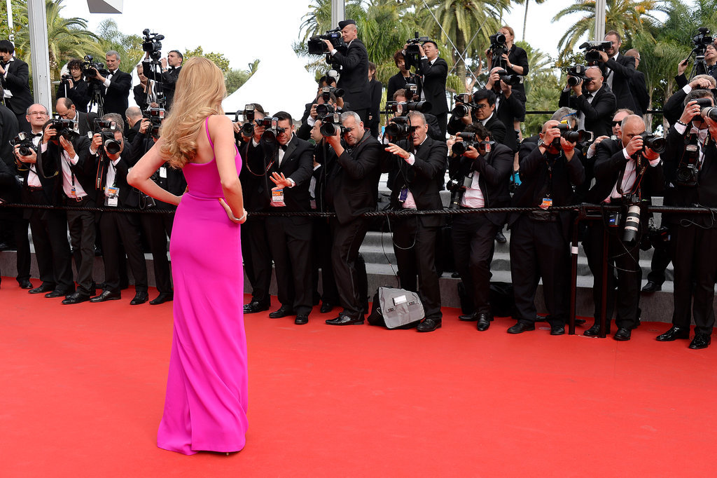 Model Lara Stone captured the attention of photographers at the red carpet premiere of The Search.