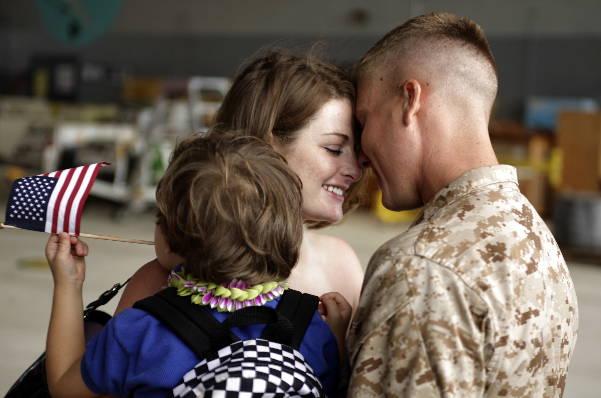 Savannah Dejong greeted her husband, Daniel, with 1/3 Marines Bravo Company upon his arrival home to Hawaii on June 13, 2010, following a seven-month deployment in southern Afghanistan.