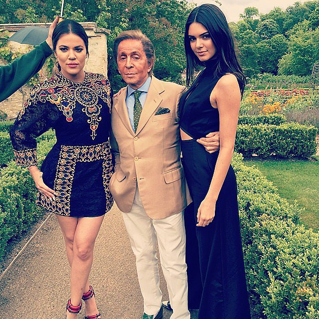 Khloé  and Kendall kicked off Kim's wedding celebrations at Valentino Garavani's Paris home. Source: Instagram user krisjenner