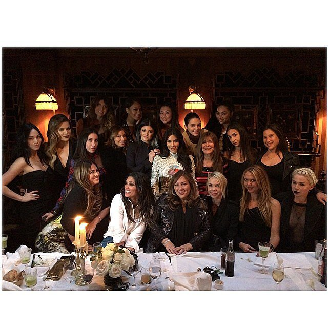 """Kim had a """"last supper"""" with her girlfriends on Thursday. Source: Instagram user kimkardashian"""