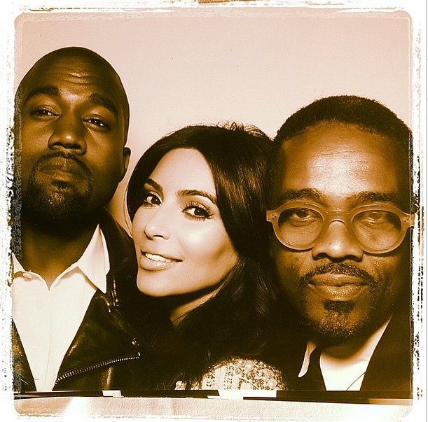 Tony Williams took a picture with Kim and Kanye in the wedding's photo booth.