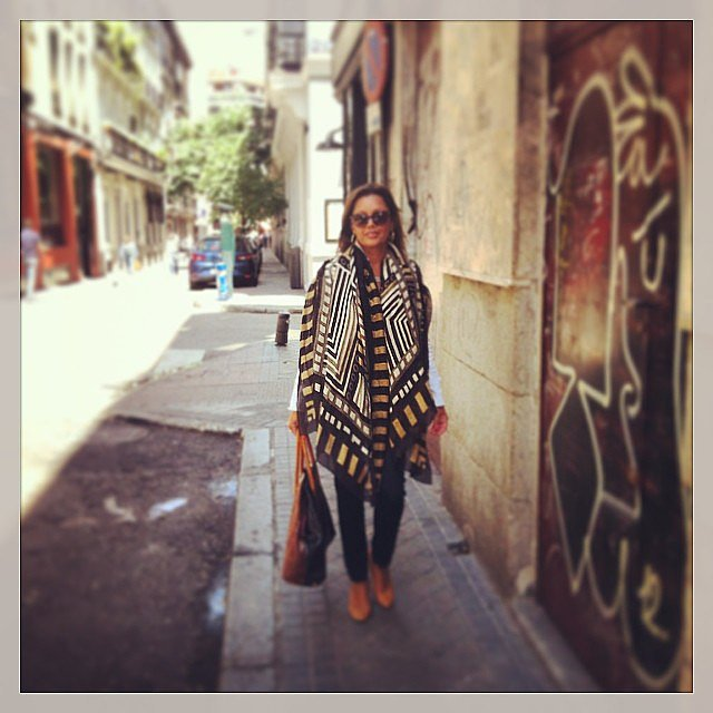 Vanessa Williams walked the streets of Madrid, Spain. Source: Instagram user vwofficial