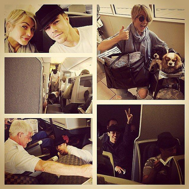 Julianne and Derek Hough embarked on a tour together. Source: Instagram user juleshough