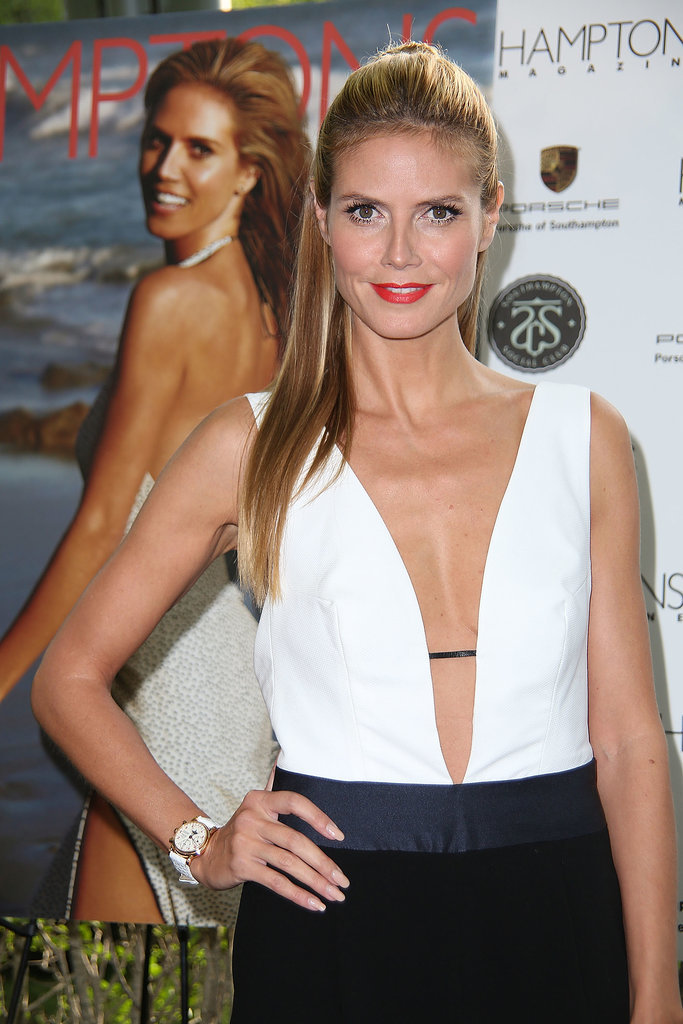Heidi Klum struck a pose at the Hamptons magazine party in Southampton, NY.