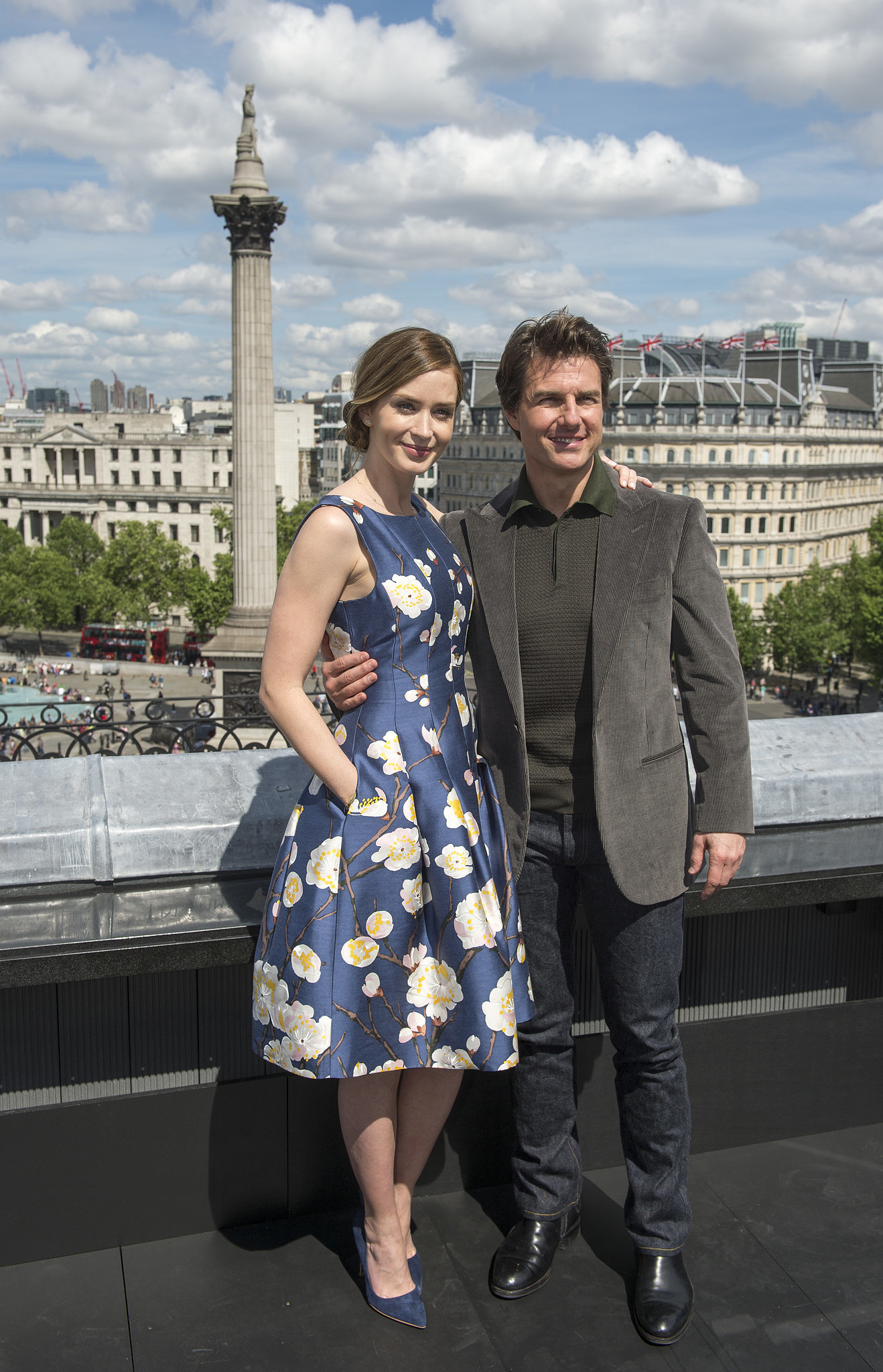 Tom Cruise and Emily Blunt were all smiles during the Edge of Tomorrow photocall in London.