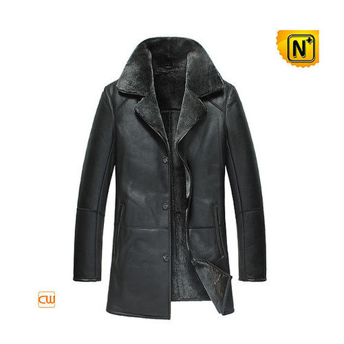 Mens Black Winter Leather Coats CW877180