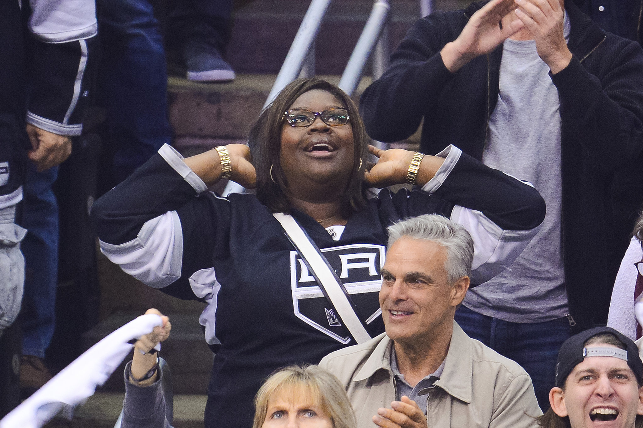 Retta couldn't contain her excitement during the game. Keep scrolling for more pictures!