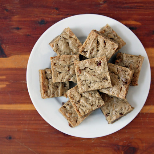 Brown Butter Blondies With Blonde Chocolate and Pecans