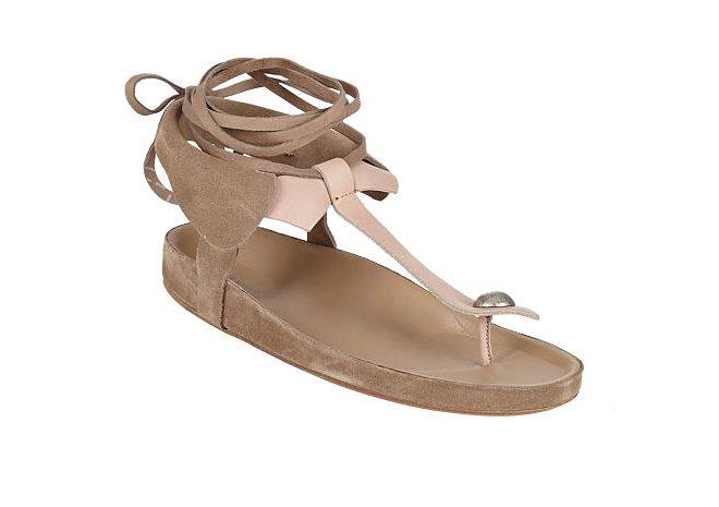 Isabel Marant Elva Bow Tie Thong Sandals