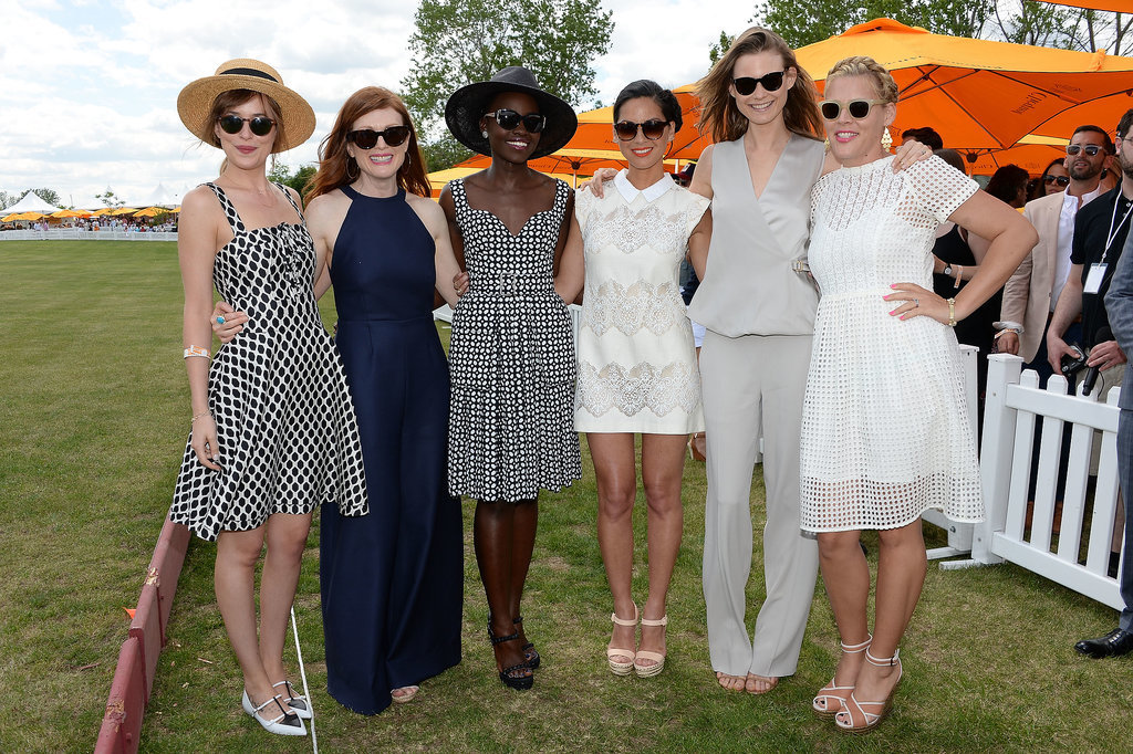 Dakota, Julianne, Lupita, Olivia, Behati, and Busy gathered for a ladies-only moment.