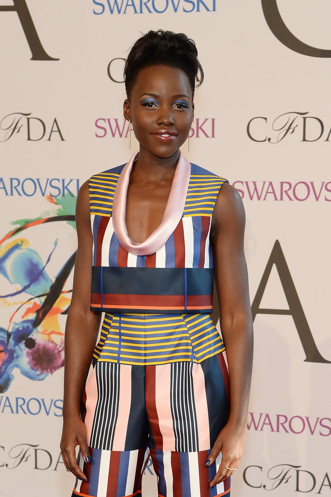 Lupita Nyong'o looked stunning in bold prints.