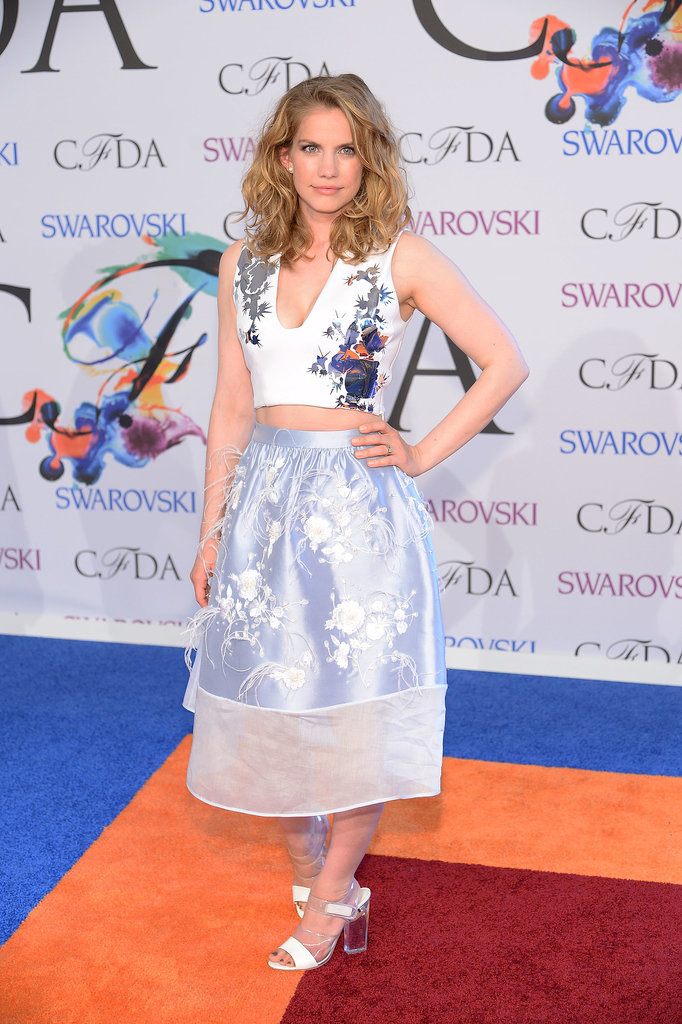 Anna Chlumsky showed off a sliver of stomach.
