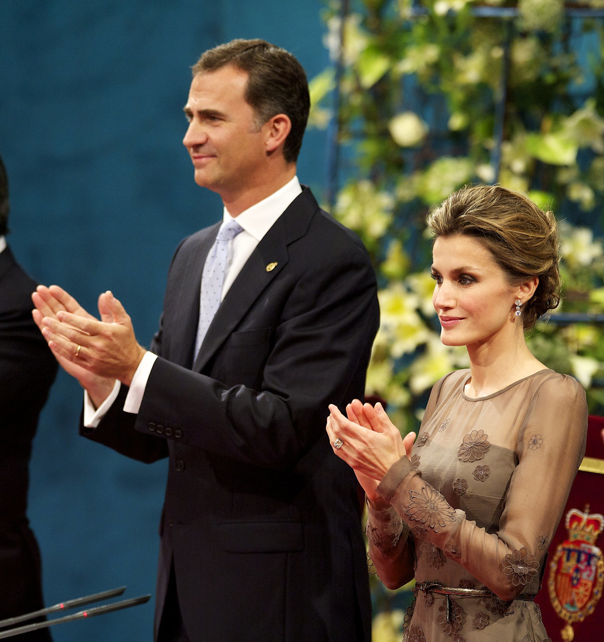 The royal couple looked elegant for the Prince of Asturias Awards ceremony in October 2011.