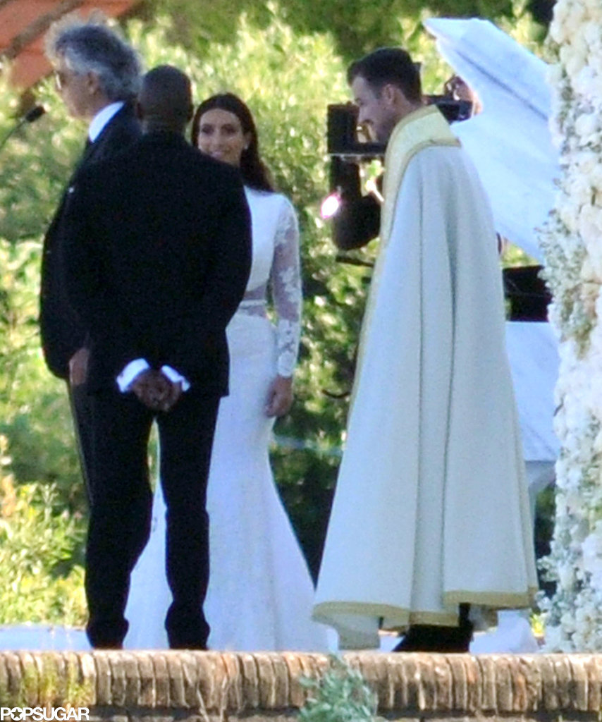 Kim and Kanye stood at the altar.