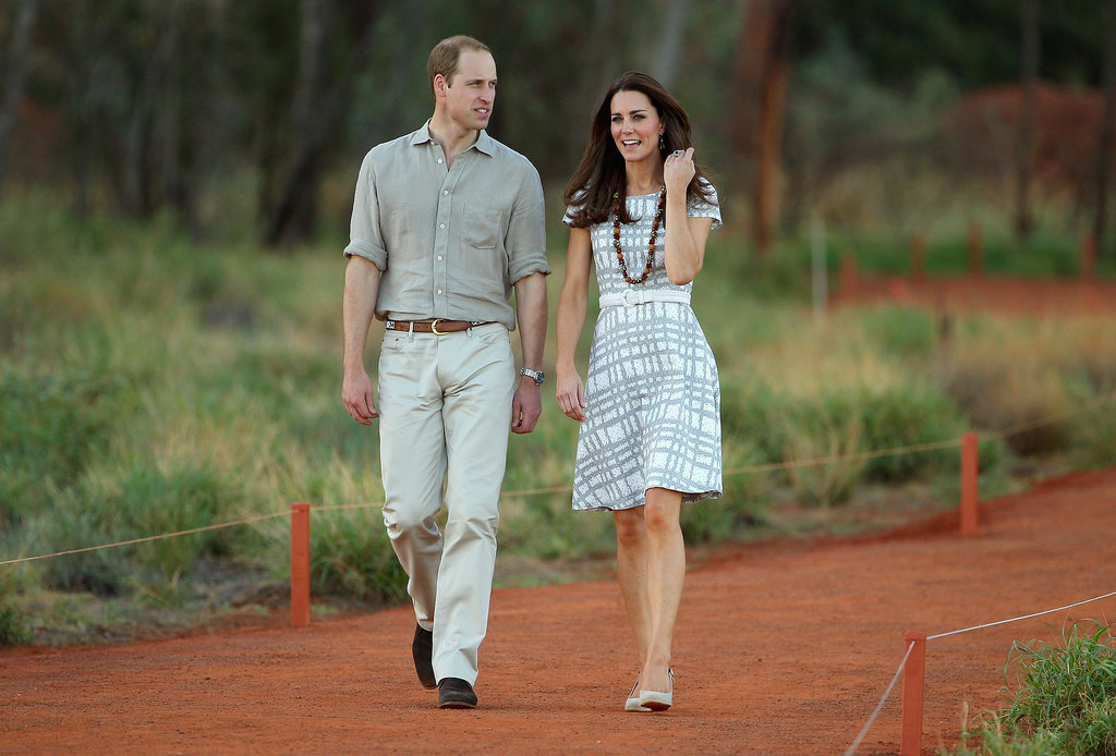 Will and Kate had a photo op at the base of Uluru during an April 2014 stop in Australia.
