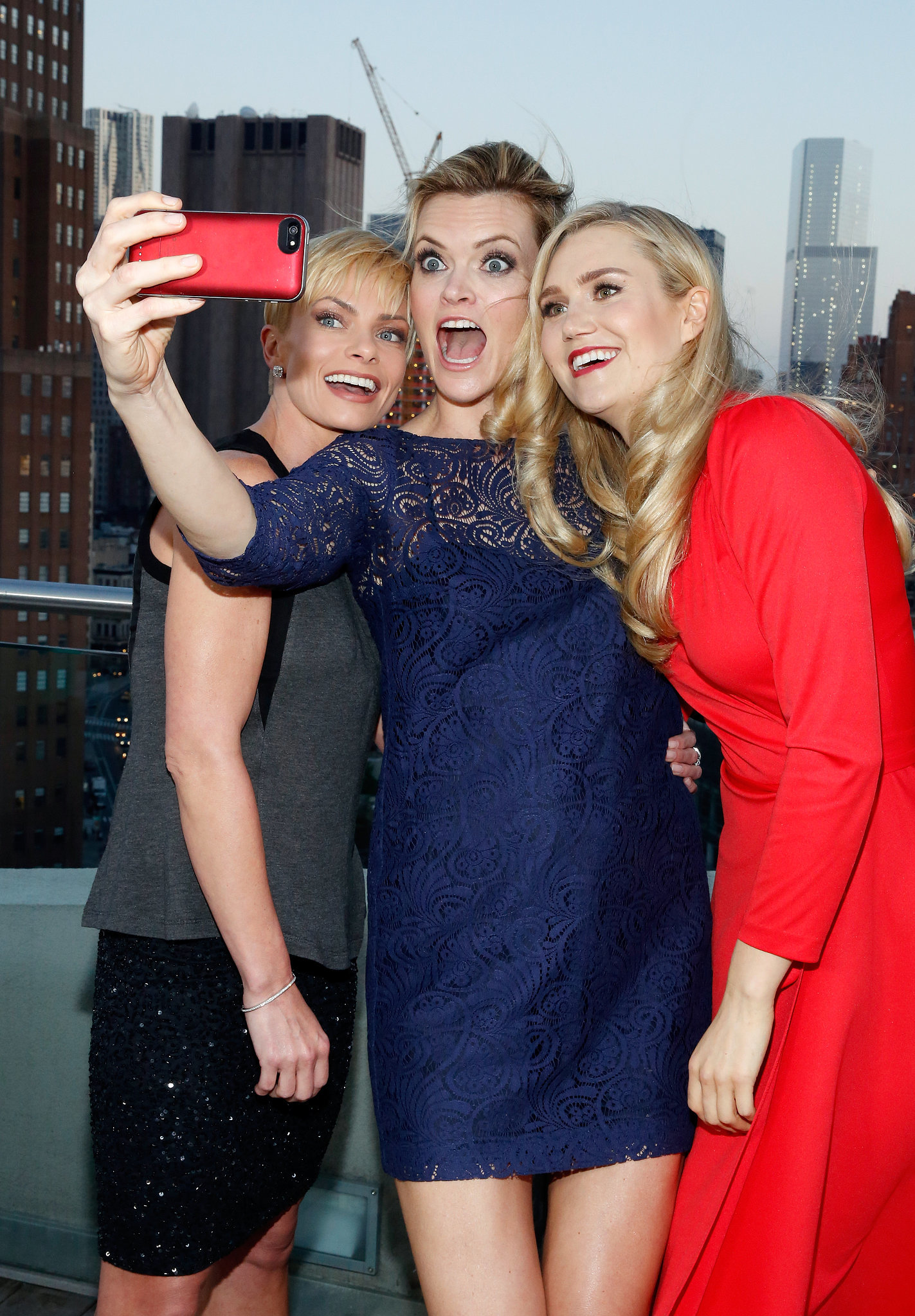 Jaime pressly missi pyle and nora kirkpatrick took a silly selfie at