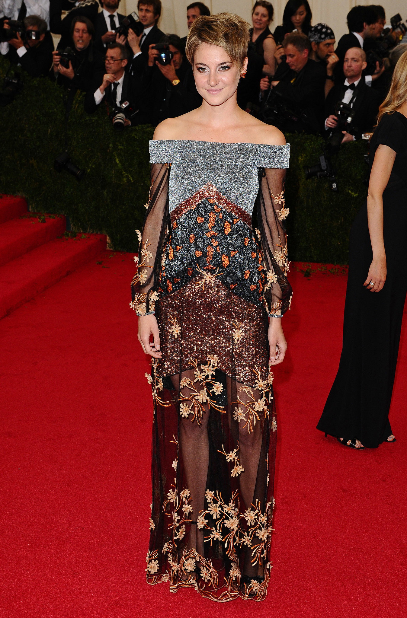 Shailene Woodley in Rodarte at the 2014 Met Gala