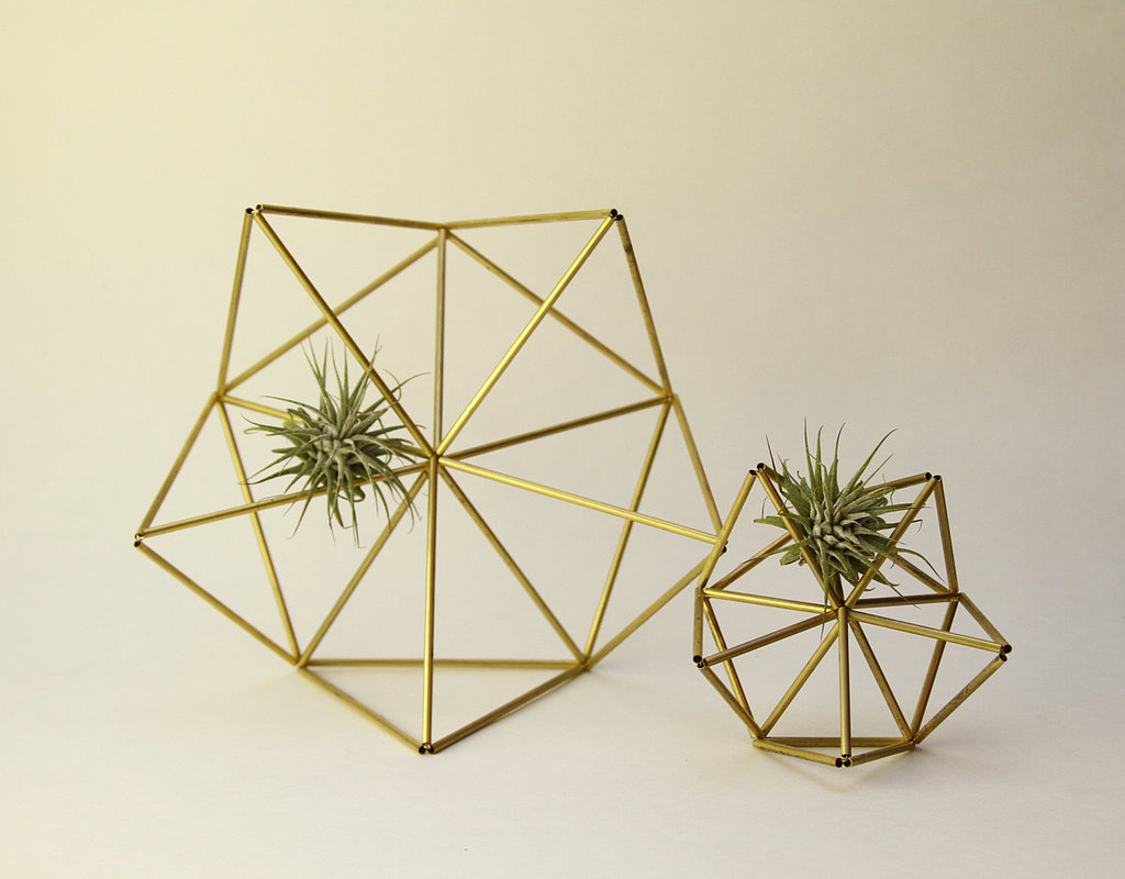 We couldn't help but do a double take when we first saw these brass planters ($48) appear in our Etsy feed. Not only are they a unique way to display succulents, but they're also a great alternative to your table's