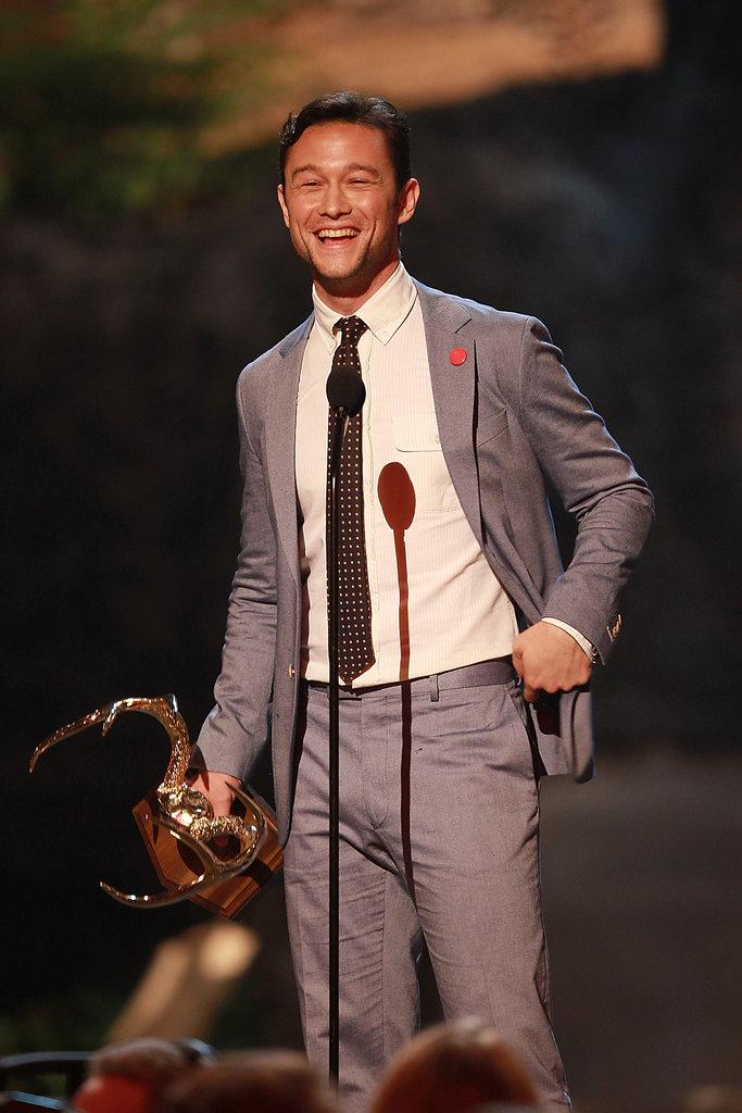 In 2013, Joseph Gordon-Levitt grinned while accepting his award.