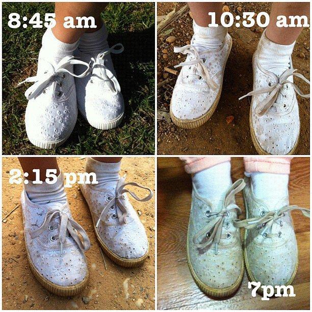 Never wear white after having children.