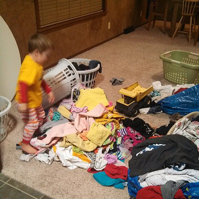Put folded laundry away immediately — it's easier than refolding it.