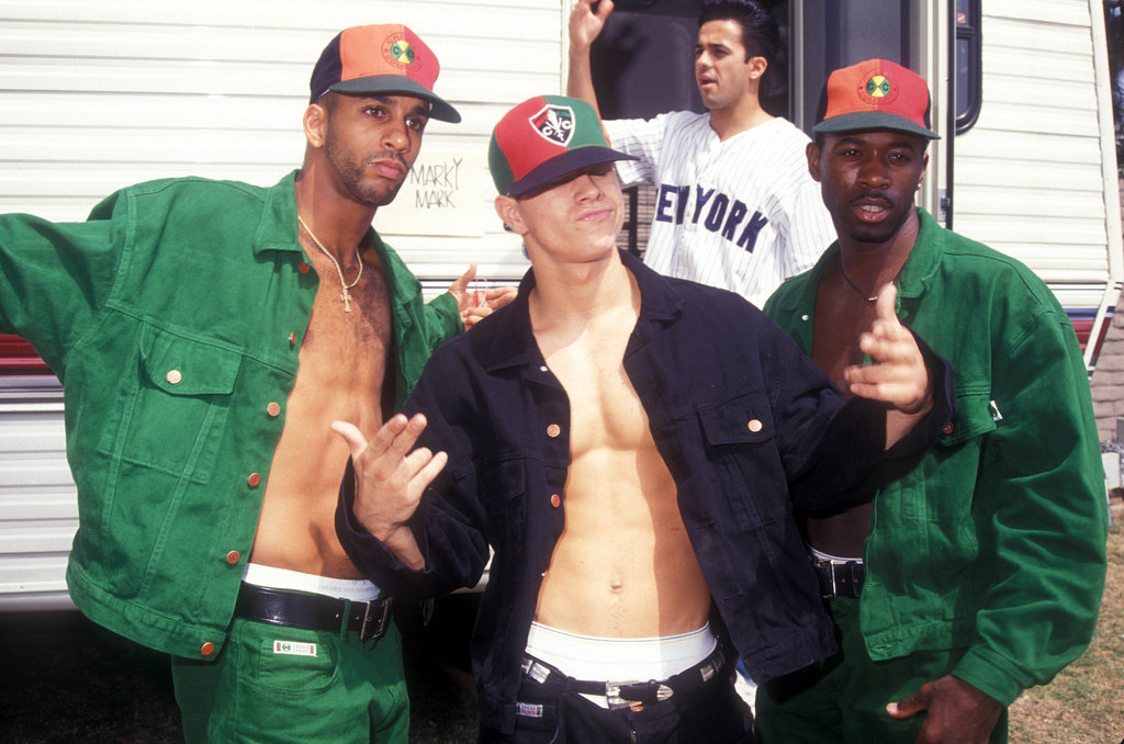 Here's Marky Mark and his aforementioned Funky Bunch before a performance in LA back in 1991.