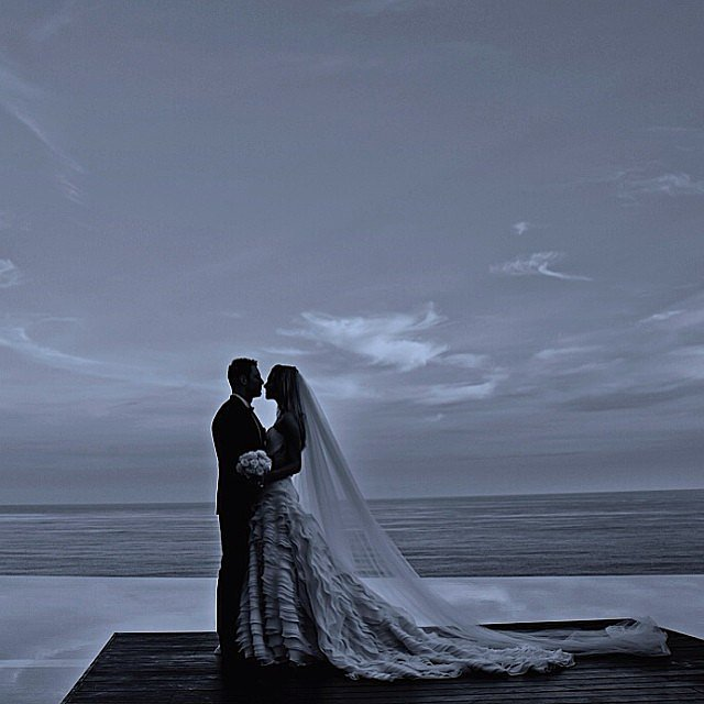 Jennifer shared this beautiful shot from their June 2013 wedding on their one-year anniversary. Source: Instagram user jenhawkins_
